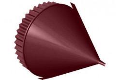 Заглушка конька конусная R 80