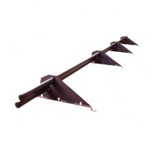 Снегозадержатель трубчатый ЭКОНОМ для кровли из металлочерепицы, профнастила 3м.