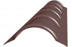 Конек металочерепичный R 80 (2 метра)