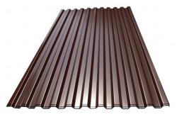 Профилированный лист C-21х1000 (ПЭ-01-8017коричневый-0.7) ( 1,200х1,051-16; 2,700х1,051-11 )