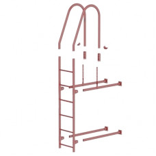 Комплект лестница фасадная BORGE верхняя секция